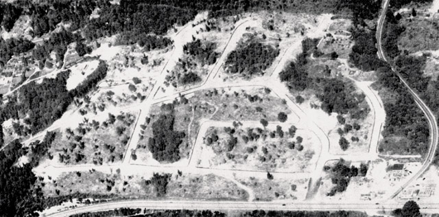 Uplake Terrace, from the air, December 1953
